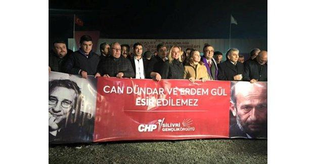 CHP Silivri Gençlik Can Dündar ve Erdem Gül'ü Karşıladı...