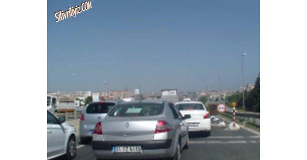 Silivri D-100 Karayolu Çile Dolu... VİDEO HABER