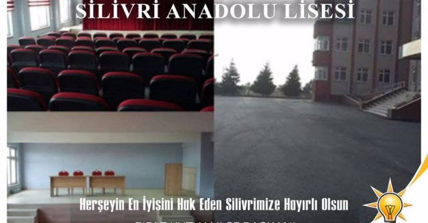 İBB'den Silivri Anadolu Lisesi'ne Destek...