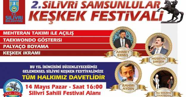 """""""Silivri Samsunlular Keşkek Festivali"""" 14 Mayıs Pazar Günü..."""