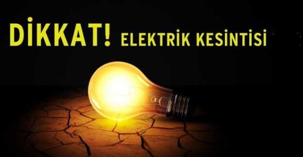 Silivri'de Elektrik Kesintisi Olacak…