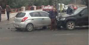 Terminal Yanında Hasarlı Kaza…