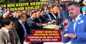 10 Bin Kişi Keşkek ve Ahmet Ermiş Konserine Doydu...