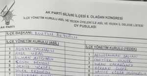 AK Parti Silivri İlçe Yönetim Kurulu Listesi...