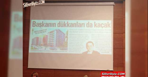 Başkanın Dükkanları da Kaçak Manşeti Meclise Taşındı…