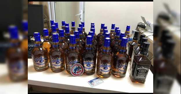 Silivri'de Sahte Viskiler Yakalandı...