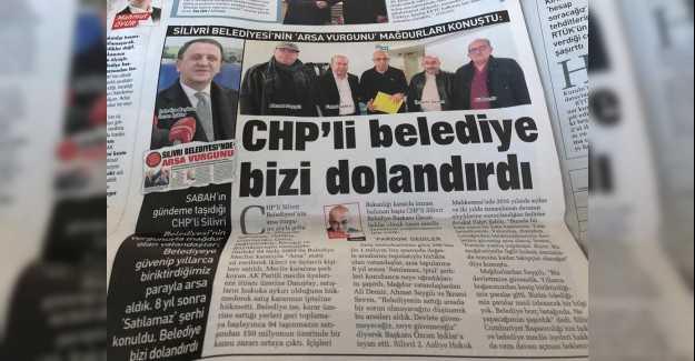CHP'li belediye bizi dolandırdı…