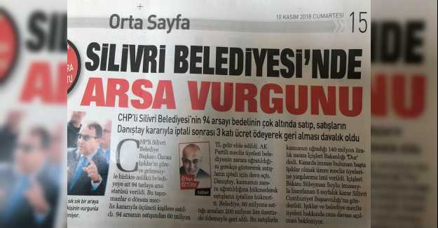 Silivri Belediyesi'nde Arsa Vurgunu...