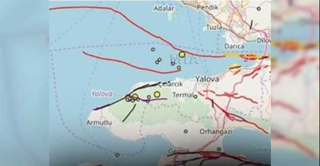 Yalova'da Deprem Oldu İstanbul'dan Hissedildi...