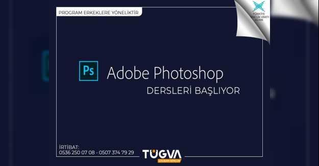 TÜGVA Ücretsiz Adobe Photoshop Kursu Açıyor…