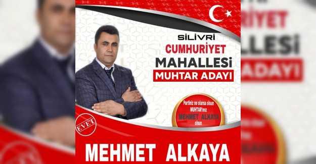 Mehmet Alkaya Cumhuriyet Mahallesi İçin Hizmet Yarışında…