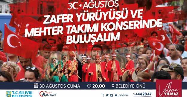 VOLKAN YILMAZ ZAFER YÜRÜYÜŞÜ VE MEHTERAN KONSERİNE DAVET ETTİ...