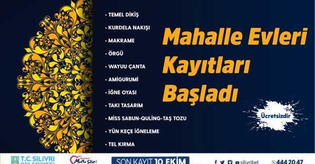 MAHALLE EVİ KURS KAYITLARI BAŞLADI