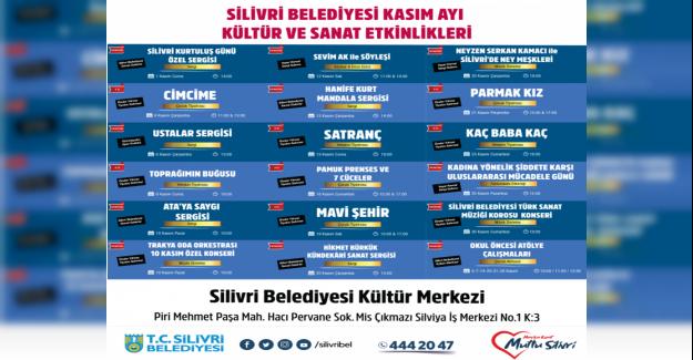 KASIM AYI KÜLTÜR SANAT FAALİYETLERİ BELLİ OLDU...