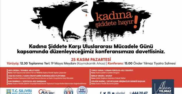 """KADINA ŞİDDETE HAYIR"""" PROGRAMINA DAVETLİSİNİZ"""