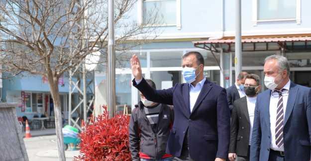 BAŞKAN YILMAZ GAZİTEPE'DE