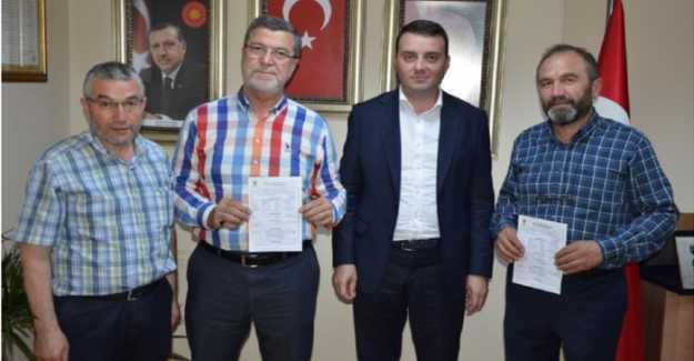 SAADET PARTİSİ'NDEN İSTİFA EDİP AK PARTİ'YE KATILDILAR...
