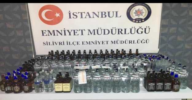 KİPTAŞ 2. Etapta Kaçak İçkiler Yakalandı...