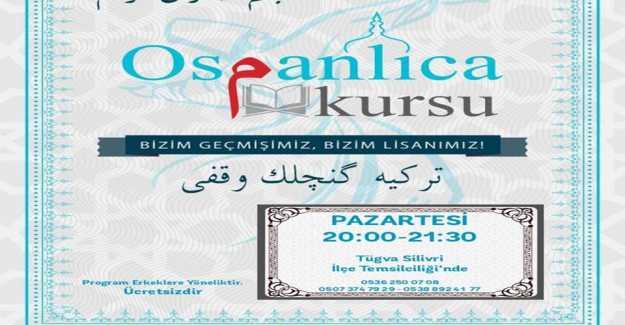 TÜGVA Ücretsiz Osmanlıca Kursu Düzenliyor…
