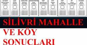 K harfinden S harfine kadar Milletvekili Silivri Köy, Mahalle ve Sandık Sonuçları… ÖZEL HABER…