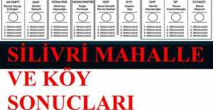 S harfinden Z harfine kadar Milletvekili Silivri Köy, Mahalle ve Sandık Sonuçları… ÖZEL HABER…