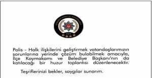 SİLİVRİ İLÇE EMNİYET MÜDÜRÜ TANER ERTÜRK VATANDAŞLARI DAVET ETTİ...